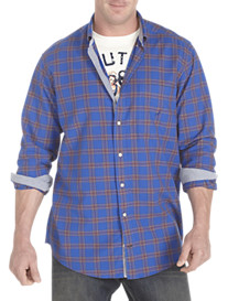 Nautica® Exploded Oxford Plaid Sport Shirt