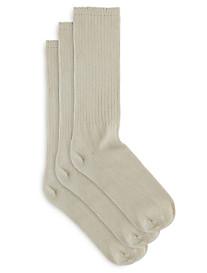 Harbor Bay® 3-pk Extra-Wide Crew Socks