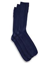 Harbor Bay® 3-pk Non-Elastic Crew Socks
