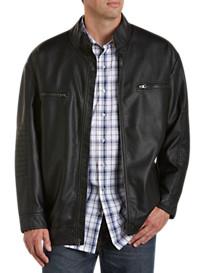 Synrgy® Faux-Leather Moto Jacket