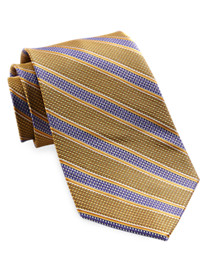 Gold Series Houndstooth Stripe Tie