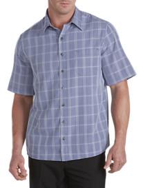 Synrgy® Mini Plaid Microfiber Sport Shirt