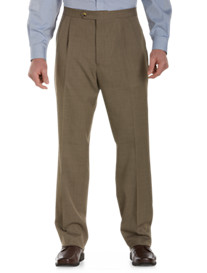 Sansabelt® Sharkskin Pleated Pants