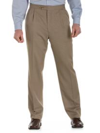 Sansabelt® Mini-Check Pleated Pants