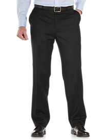 Palm Beach® Worsted Wool Flat-Front Suit Pants
