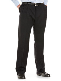 Palm Beach® Worsted Wool Pleated Trousers