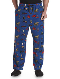 Harbor Bay® Camping Print Flannel Lounge Pants
