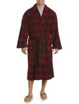 Harbor Bay® Plaid Shawl-Collar Fleece Robe