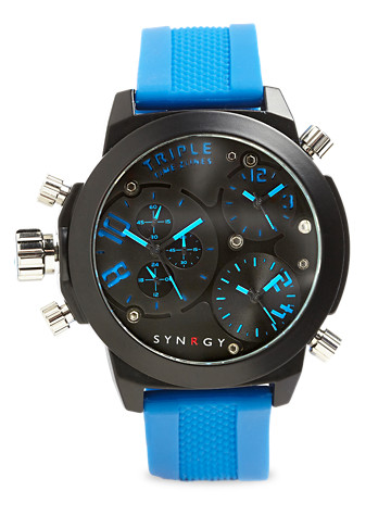 Synrgy™ Gunmetal Watch with Silicone Band