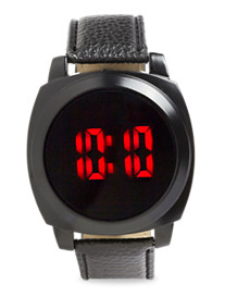 True Nation® LED Watch with Leather Band