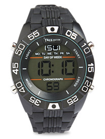 True Nation® Digital Watch with Silicone Band