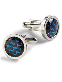 Geoffrey Beene® Round Silver Cufflinks