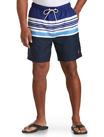 Nautica® Short Passage Stripe Swim Trunks