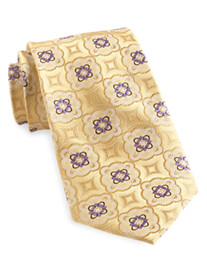 Gold Series Designed in Italy Large Medallion Silk Tie