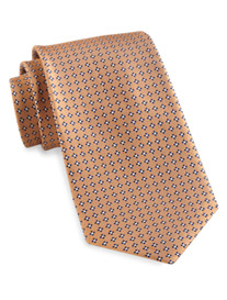 Gold Series Designed in Italy Small Floral Neat Silk Tie