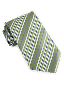 Geoffrey Beene® Contrast Stripe Silk Tie