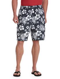 Island Passport® Hibiscus Print Swim Trunks