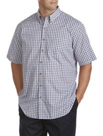 Harbor Bay® Short Sleeve Easy-Care Plaid Sport Shirt
