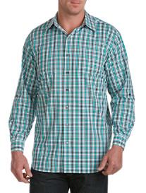 Synrgy™ Roll-Sleeve Plaid Sport Shirt