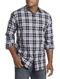 Synrgy® Large Plaid Patterned Sport Shirt