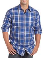 Synrgy™ Large Plaid Patterned Sport Shirt