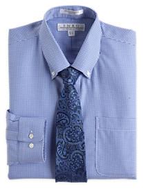 Enro® Non-Iron Dobby Check Dress Shirt