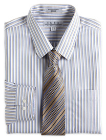 Enro® Non-Iron Jaspé Twill Stripe Dress Shirt