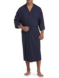 Harbor Bay Waffle-Knit Kimono Robe