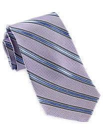 Gold Series Designed in Italy Textured Stripe Silk Tie