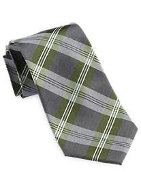 Geoffrey Beene® Flannel Plaid Silk Tie