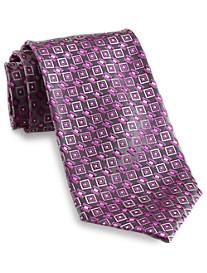 Geoffrey Beene® Charcoal Geo Silk Tie