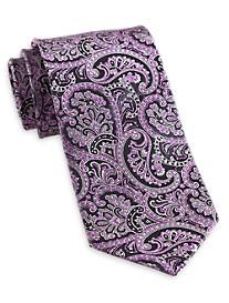 Geoffrey Beene® Charcoal Paisley Silk Tie