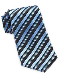 Geoffrey Beene® Charcoal Stripe Silk Tie