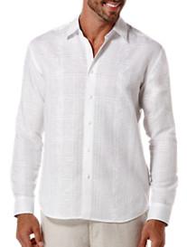 Cubavera® Floral Embroidered Sport Shirt