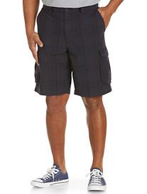 True Nation® Navy Tonal Plaid Cargo Shorts