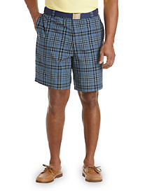 Oak Hill® Waist-Relaxer® Plaid Shorts