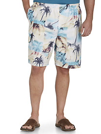 Island Passport® Palm Tree and Sand Swim Trunks