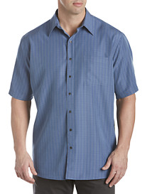 Harbor Bay® Textured Grid Microfiber Sport Shirt