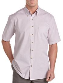 Harbor Bay® Easy-Care Mini Check Sport Shirt