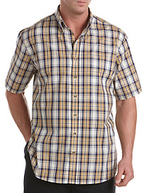 Harbor Bay® Easy-Care Multi Large Plaid Sport Shirt