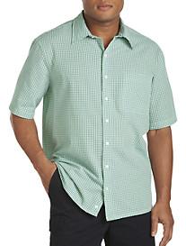 Harbor Bay® Seersucker Mini-Check Sport Shirt