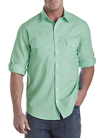 True Nation® Washed Solid Sport Shirt