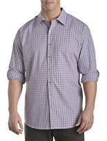 Synrgy™ Rolled-Sleeve Check Sport Shirt