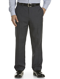 Andrew Fezza Flat-Front Plaid Suit Pants