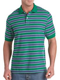 Harbor Bay® Green/Navy Stripe Polo
