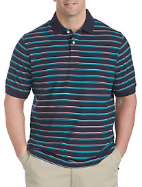 Harbor Bay® Double Stripe Piqué Polo