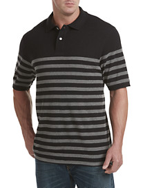Harbor Bay® Placed Bi-Color Stripe Polo