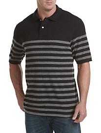 Harbor Bay® Placed Bi-Color Stripe Polo