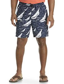 Nautica® Sail Boat Printed Swim Trunks