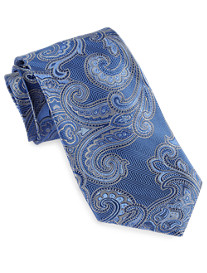 Gold Series Designed in Italy Large Textured Paisley Silk Tie